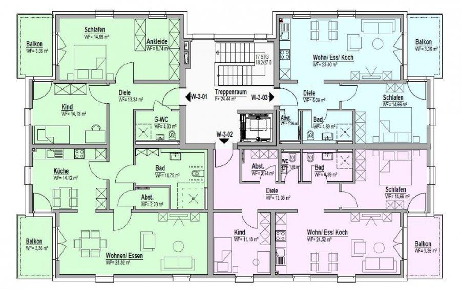 wohnung kaufen 3 zimmer 117.48 m² bitburg foto 3