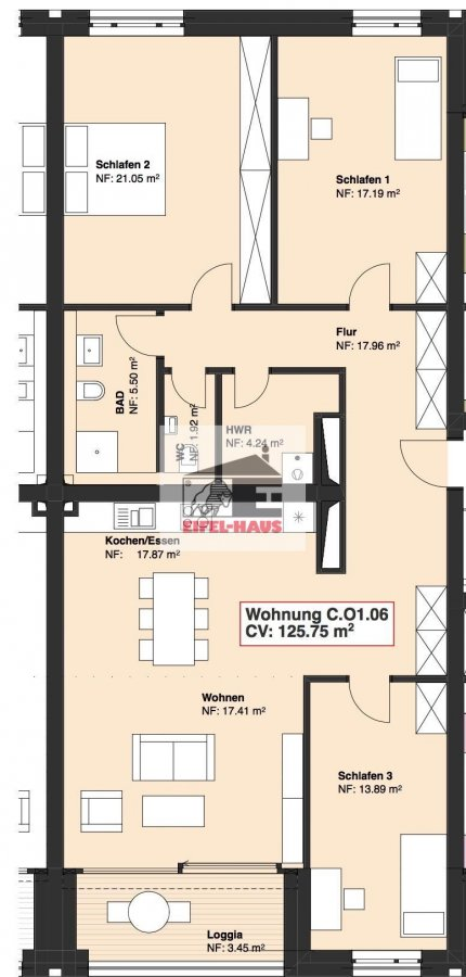 apartment for buy 3 bedrooms 125.75 m² wasserbillig photo 3