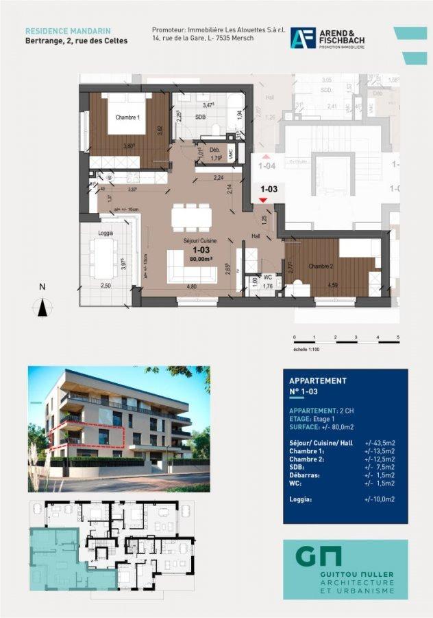acheter appartement 2 chambres 80 m² bertrange photo 2