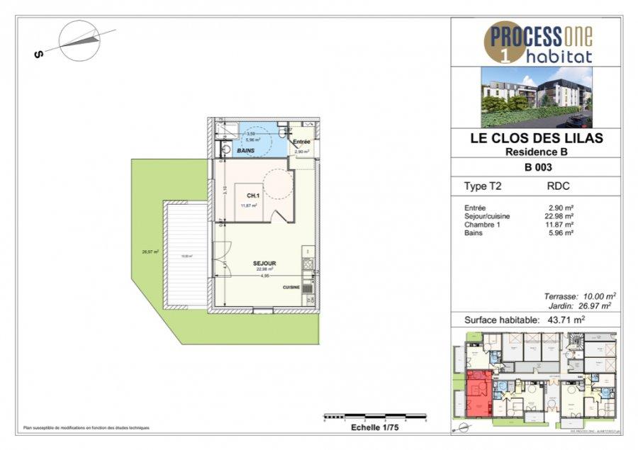 acheter appartement 2 pièces 43.71 m² aumetz photo 1