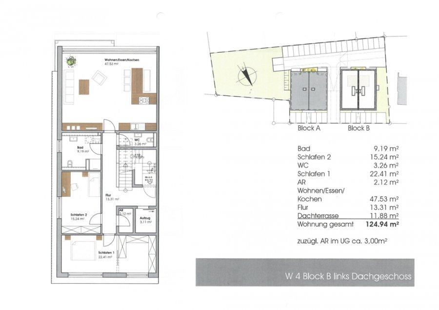 acheter penthouse 3 pièces 127.94 m² perl photo 4