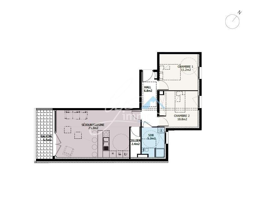 acheter appartement 3 pièces 65 m² lomme photo 4