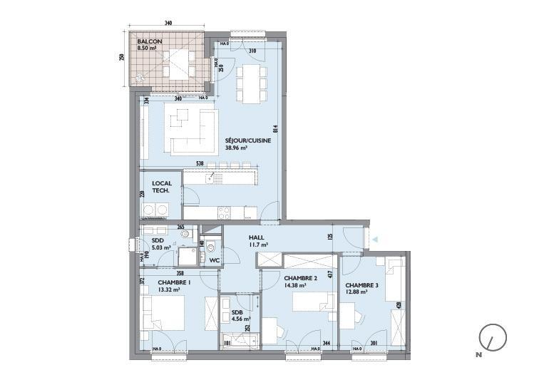 acheter appartement 3 chambres 110.22 m² hesperange photo 3