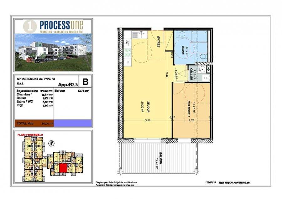 acheter appartement 2 pièces 50.01 m² amnéville photo 1