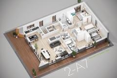 louer appartement 3 chambres 113.53 m² bridel photo 3