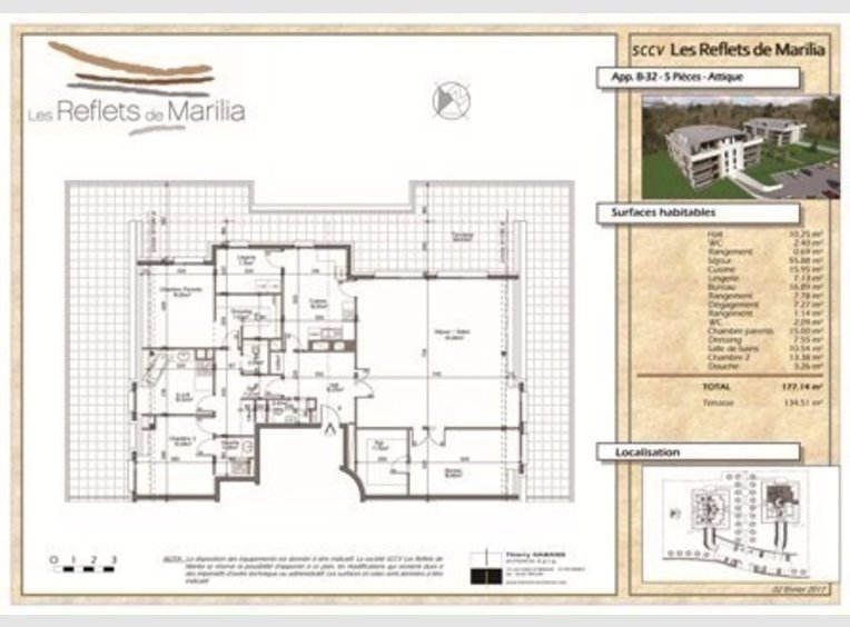 Neuf penthouse f6 marly moselle r f 5143610 for Code postal moselle