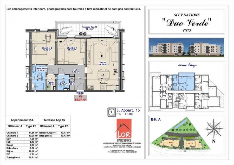 acheter appartement 3 pièces 69.71 m² yutz photo 4
