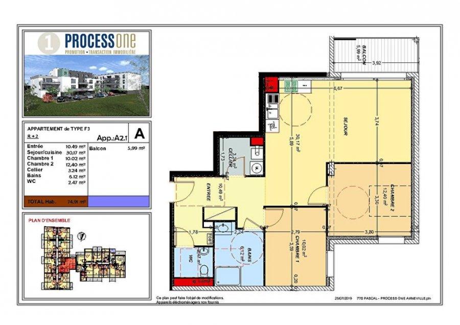 acheter appartement 3 pièces 74.91 m² amnéville photo 1