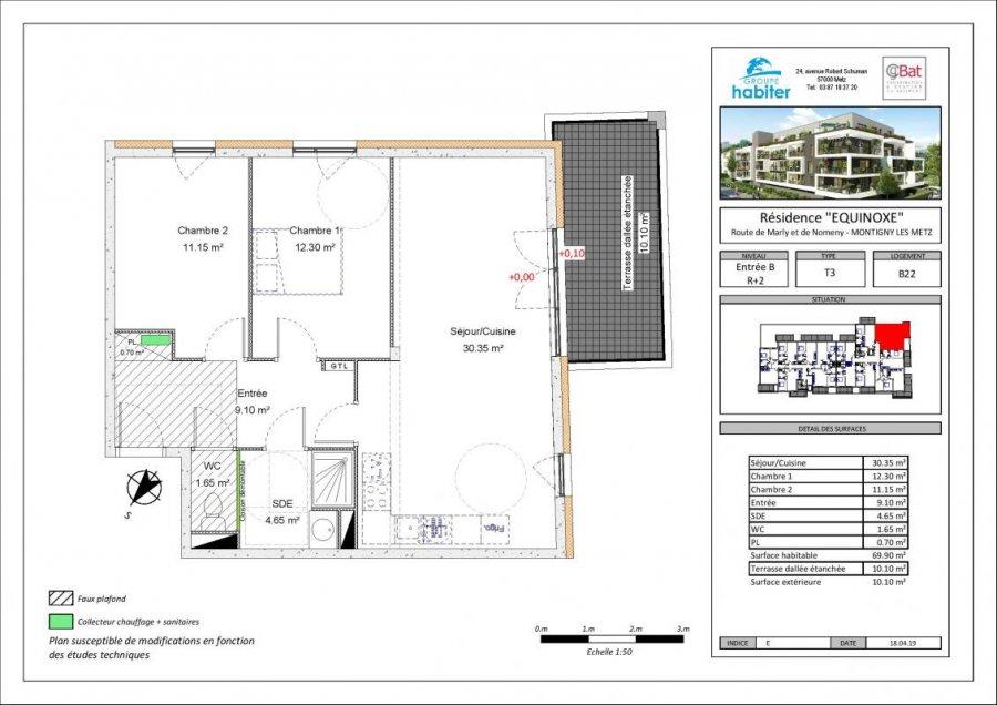 acheter appartement 3 pièces 69 m² montigny-lès-metz photo 1