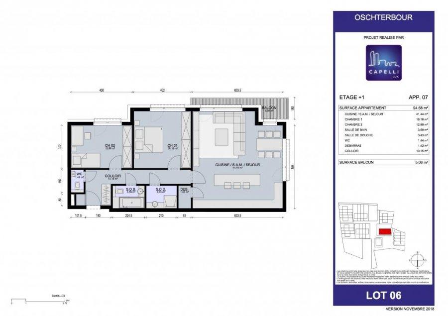 acheter appartement 3 chambres 96.68 m² differdange photo 3