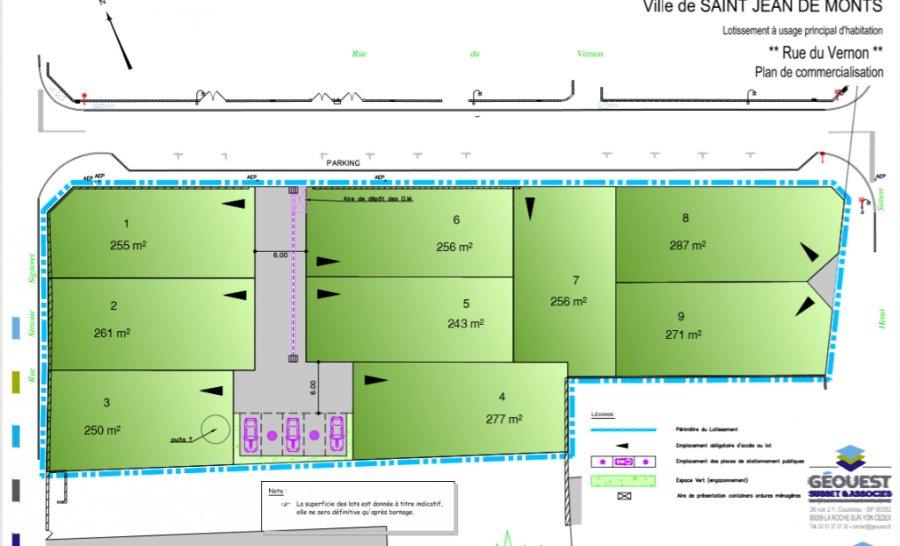 acheter terrain constructible 0 pièce 255 m² saint-jean-de-monts photo 1