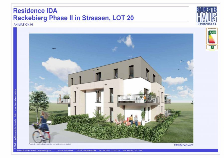 apartment for buy 3 bedrooms 124.74 m² strassen photo 2