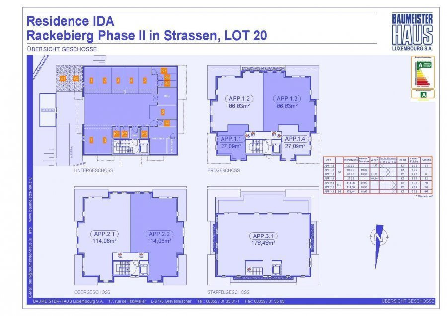 apartment for buy 3 bedrooms 124.74 m² strassen photo 5