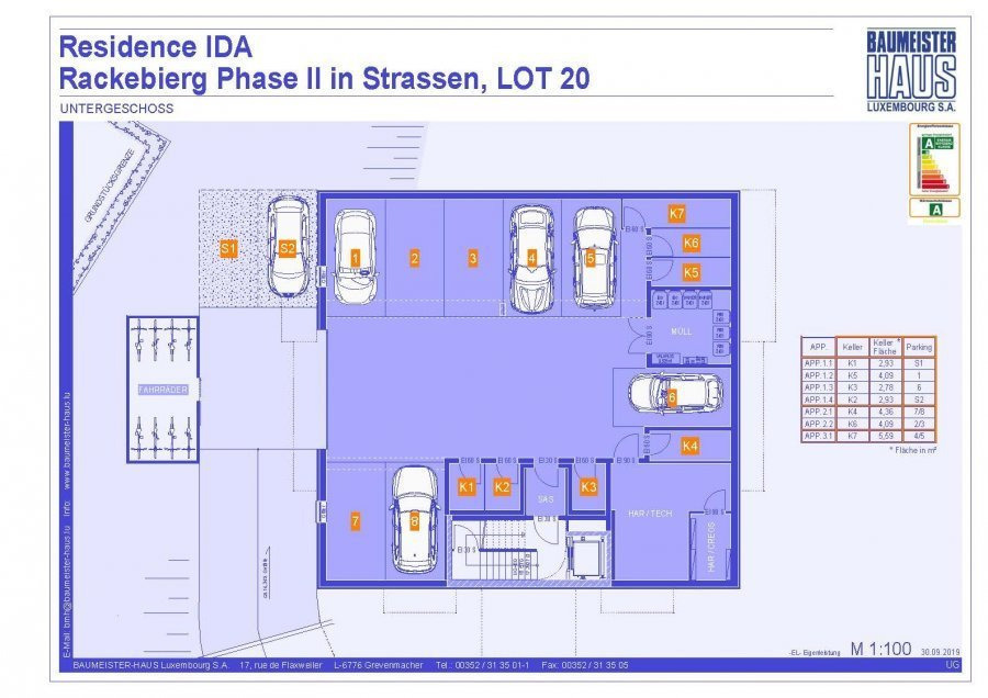 apartment for buy 3 bedrooms 124.74 m² strassen photo 6