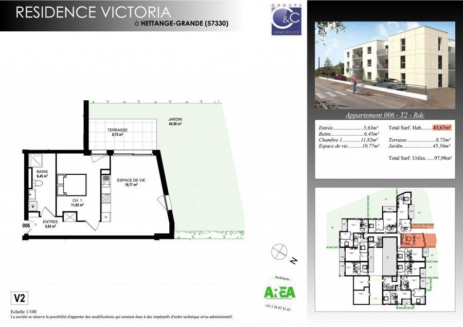 acheter appartement 2 pièces 43.46 m² hettange-grande photo 3