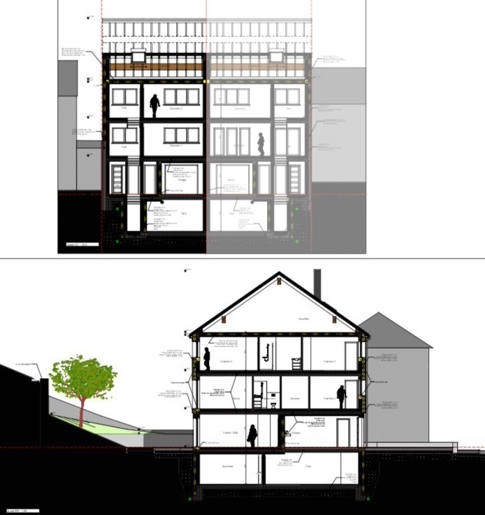 Maison à vendre 4 chambres à Luxembourg-Neudorf