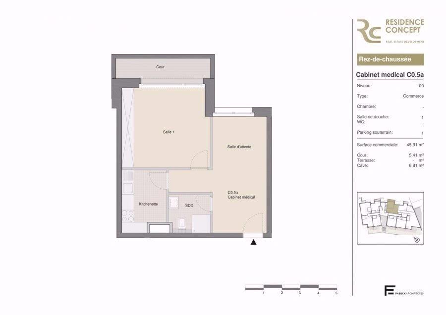 acheter bureau 0 chambre 47.53 m² luxembourg photo 2