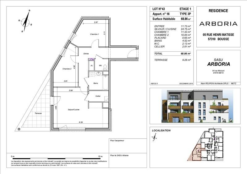 acheter appartement 3 pièces 68 m² bousse photo 2