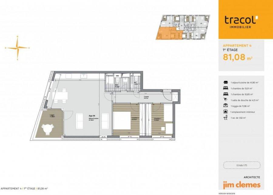 acheter appartement 2 chambres 81.08 m² niederkorn photo 3