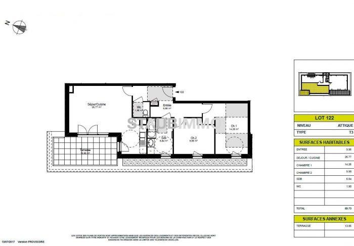 acheter appartement 3 pièces 69 m² blotzheim photo 2