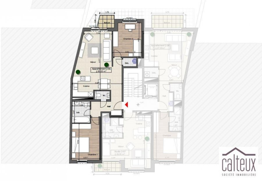 louer appartement 2 chambres 80.58 m² luxembourg photo 1
