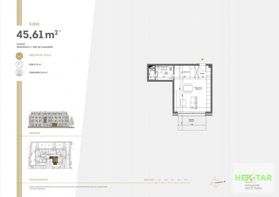 acheter studio 0 chambre 45.61 m² luxembourg photo 7