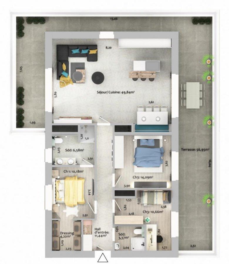 acheter appartement 3 chambres 115.38 m² ettelbruck photo 4