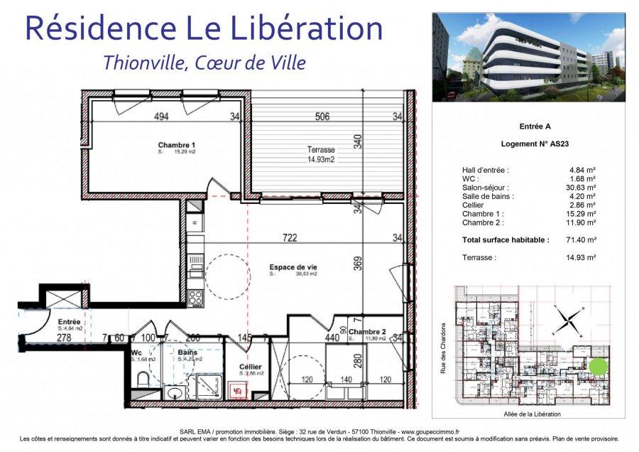 wohnung kaufen 3 zimmer 71.4 m² thionville foto 2