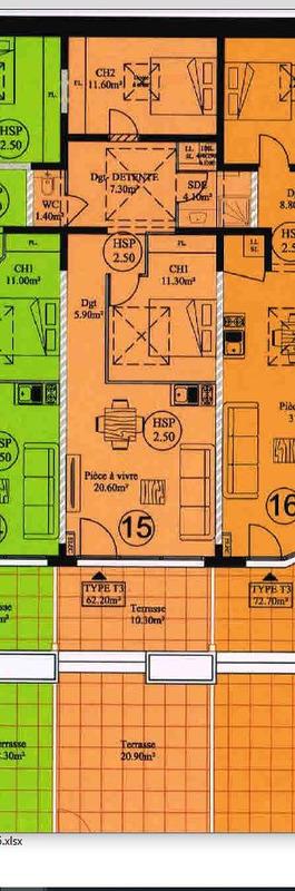 acheter appartement 3 pièces 62 m² la bresse photo 6