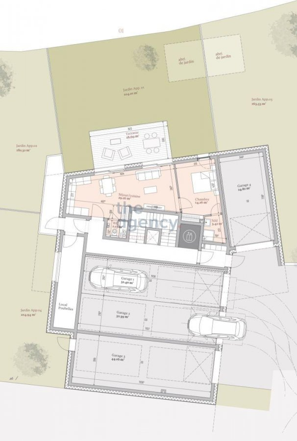 acheter résidence 0 chambre 94.83 à 187.02 m² mondercange photo 3