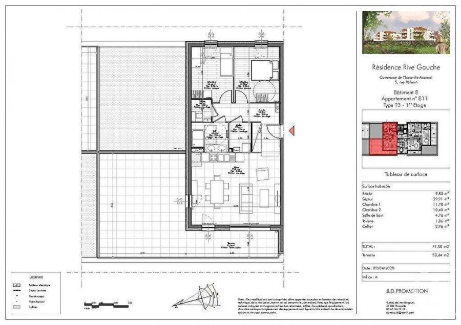 acheter appartement 3 pièces 71.5 m² manom photo 1