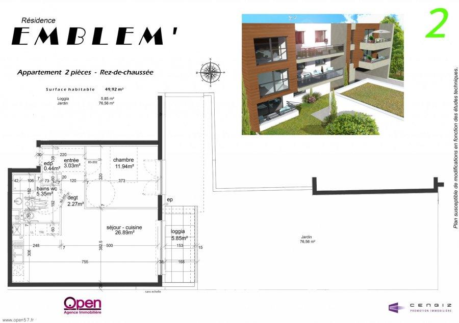 acheter appartement 2 pièces 49.92 m² hettange-grande photo 2