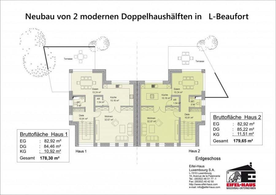 acheter maison jumelée 3 chambres 178 m² beaufort photo 3