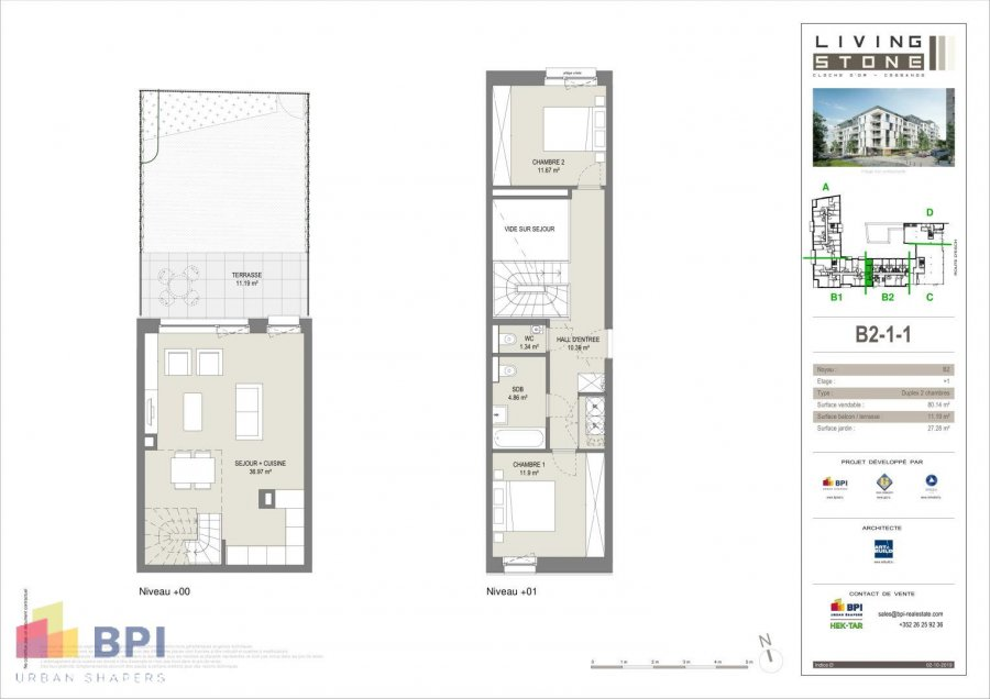 duplex for buy 2 bedrooms 84.62 m² luxembourg photo 2