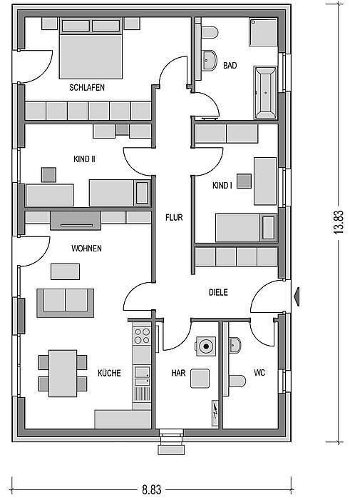 bungalow kaufen 4 zimmer 99 m² üttfeld foto 3