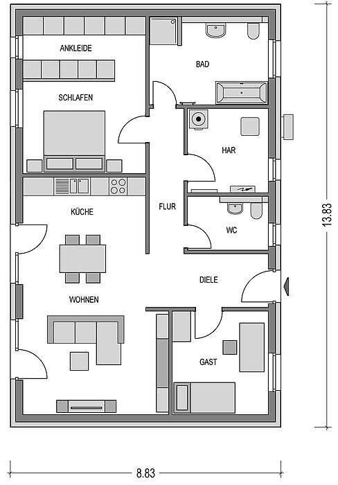 bungalow kaufen 4 zimmer 99 m² üttfeld foto 4