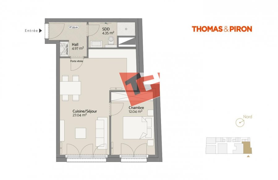 acheter appartement 1 chambre 49.68 m² luxembourg photo 1