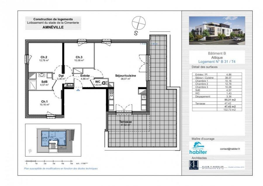 acheter appartement 4 pièces 85 m² amnéville photo 1