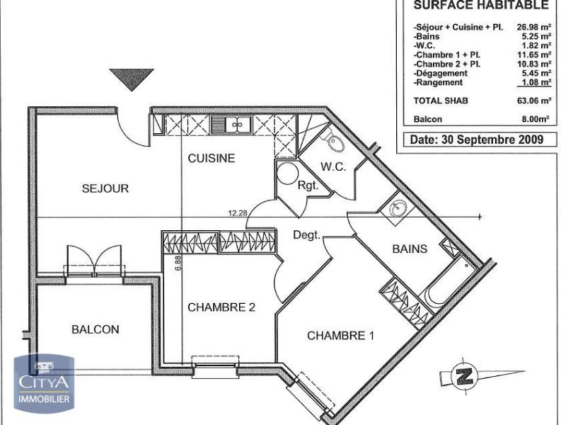 louer appartement 3 pièces 63 m² stiring-wendel photo 4