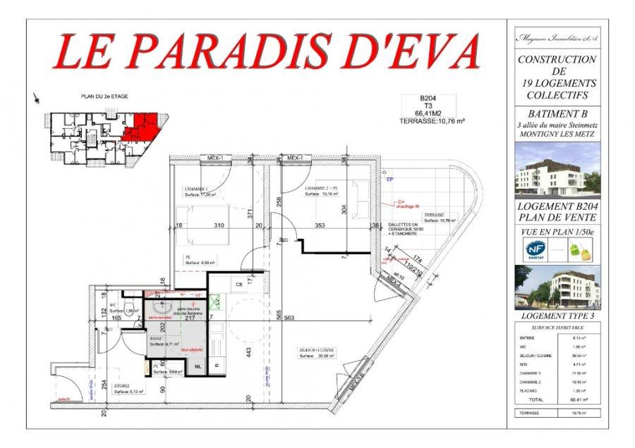 acheter appartement 3 pièces 66.35 m² montigny-lès-metz photo 3