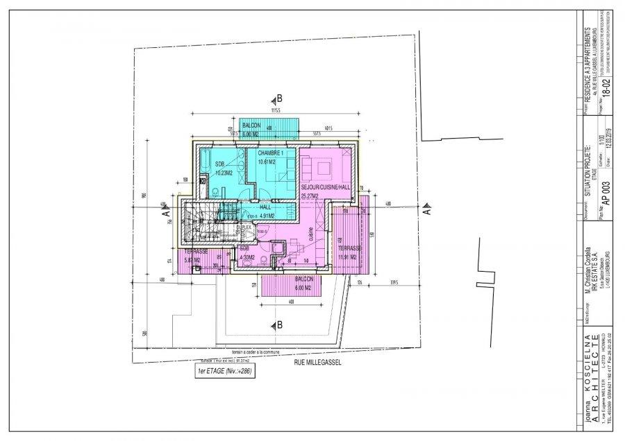 Penthouse à vendre 2 chambres à Luxembourg-Muhlenbach