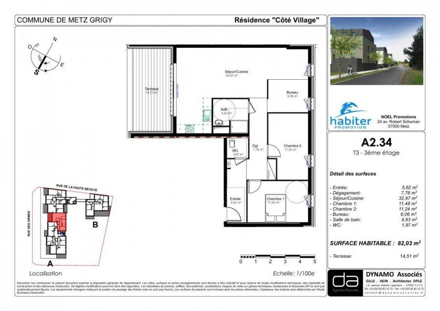 acheter appartement 4 pièces 81 m² metz photo 1