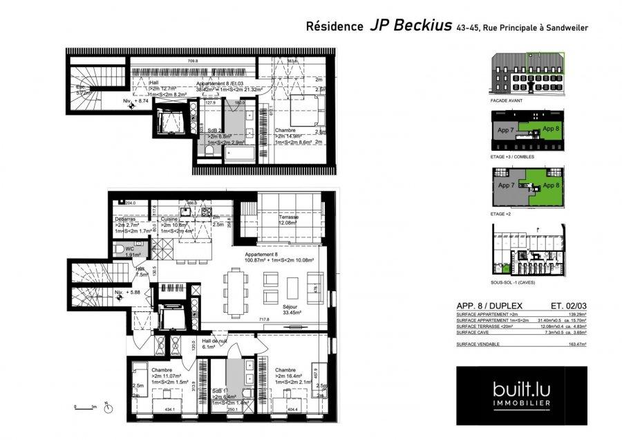 acheter duplex 3 chambres 155 m² sandweiler photo 3