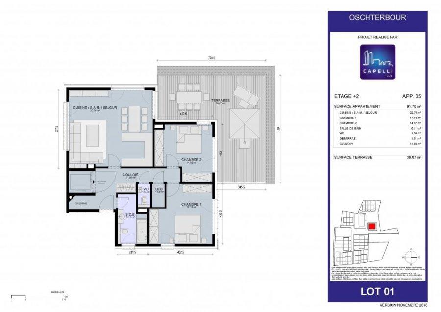 acheter appartement 2 chambres 91.7 m² differdange photo 6