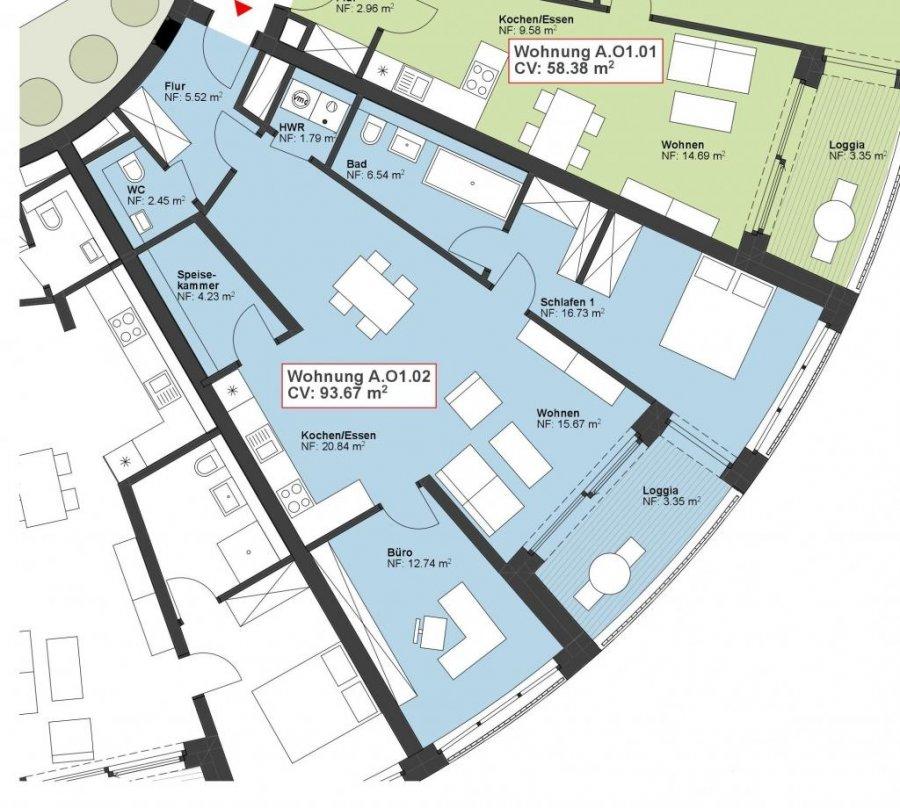 wohnung kaufen 2 schlafzimmer 93.67 m² wasserbillig foto 1
