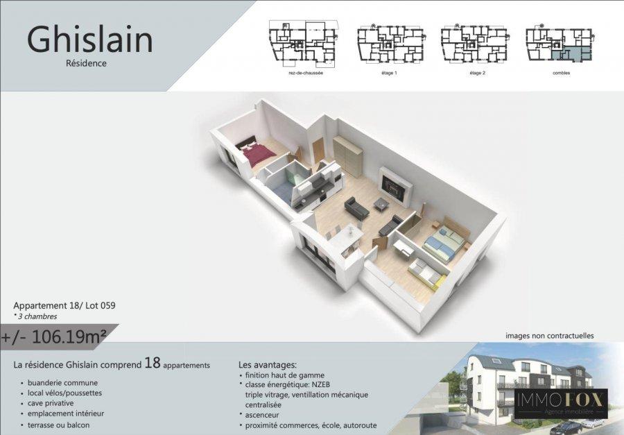 acheter appartement 3 chambres 106 m² rodange photo 2