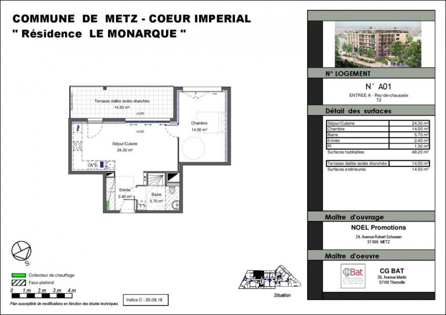 acheter appartement 2 pièces 48 m² metz photo 1