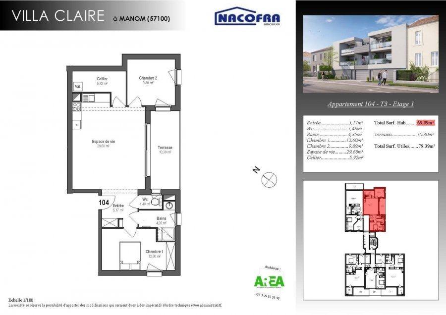acheter appartement 3 pièces 72.04 m² manom photo 2
