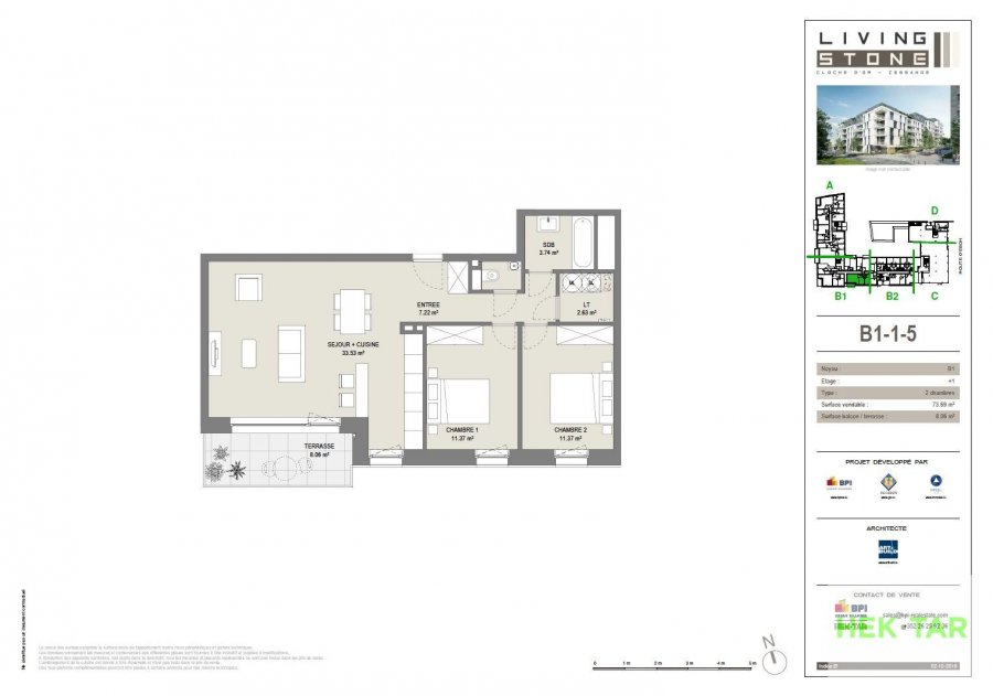 apartment for buy 2 bedrooms 76.91 m² luxembourg photo 2