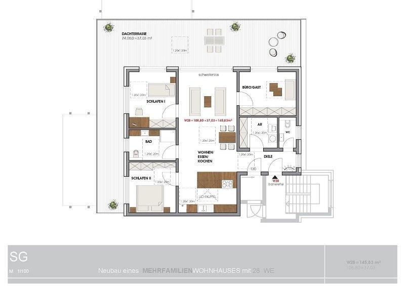 acheter penthouse 4 pièces 145.83 m² perl photo 4
